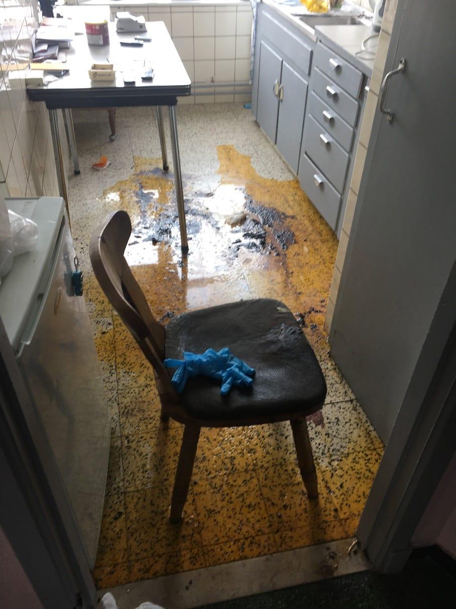 Exemple de nettoyage après décès - Avant